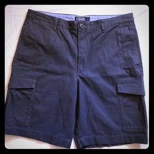 Chaps Navy Blue Mens Cargo Shorts